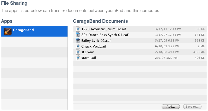 Step One Import Loops Into Garageband iPad