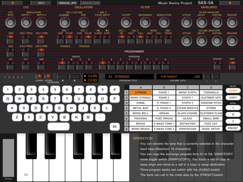 Virtual Analog Synth For iPad