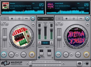 Waves Audio Dj App Mashup Screenshot
