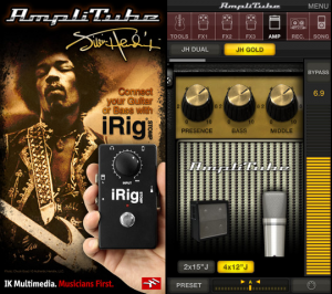 Jimi Hendrix AmpliTube Screenshot