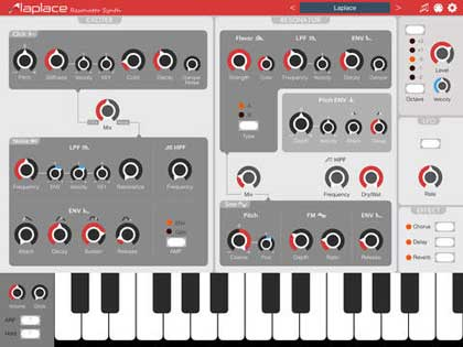 Laplace resonator synth for iPad