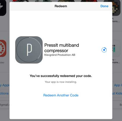 Get promo codes for music apps