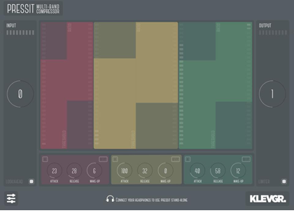 Pressit multiband compressor for iPad