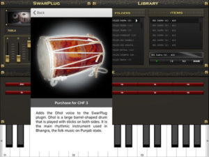 SwarPlug Indian Instruments For iPad