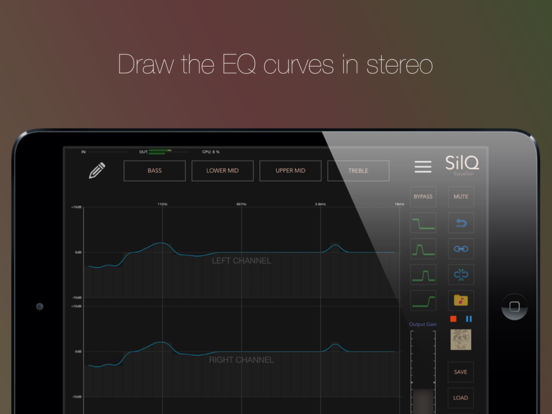 SilQ 32 Band Stereo Equalizer For iPad | iPad Music Apps