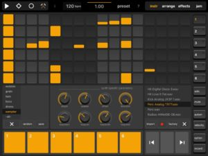 Elastic Drums With Sampler Feature