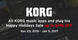 Korg Apps and Plug Ins On Sale